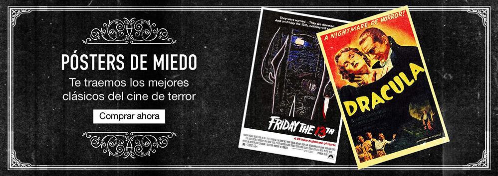 Pósters de miedo. Te traemos los mejores clásicos del cine de terror. Comprar ahora
