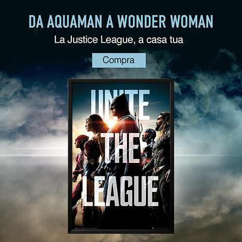 Da Aquaman a Wonder Woman. La Justice League, a casa tua. Compra