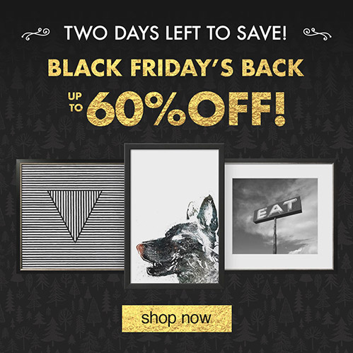 Black Friday's Back: Up to 60% Off. Two Days Left to Save! Shop Now