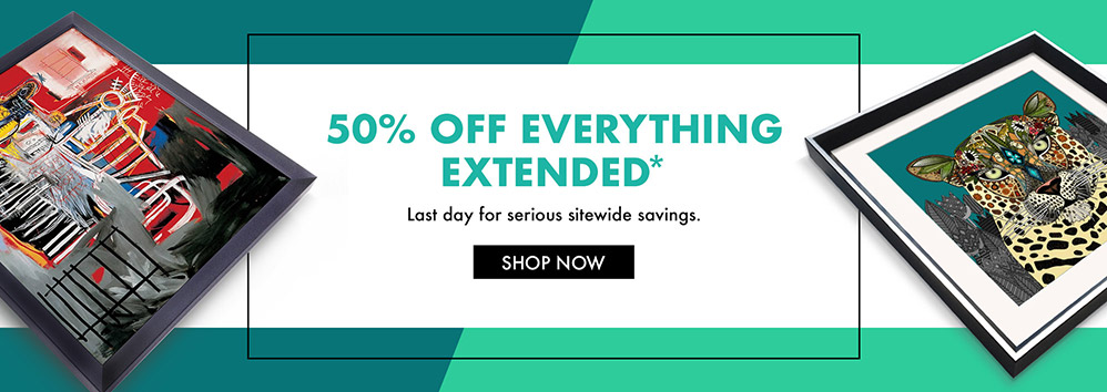 50% OFF EVERYTHiNG* Last day for serious sitewide savings. Shop Now