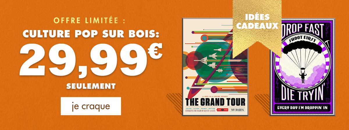 Offre limitée : Culture Pop sur Bois : 29,99 € seulement. Je craque.