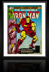 Marvel Comics Retro: The Invincible Iron Man Comic Book Cover 126, Suiting Up for Battle